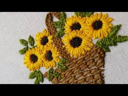 Flower Designs For Embroidery Hand Embroidery Designs For Baby Clothes Flower Basket