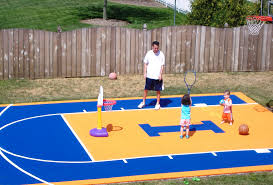 backyard basketball court dimensions half court home outdoor