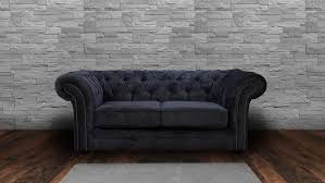 chesterfield sofa in fabric jackson chesterfield 2 seater chenille fabric sofa charcoal grey