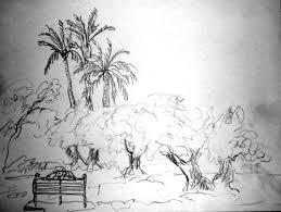 banc a la menara marrakech dessin jpg
