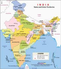 map showing states and capitals of usa list of indian states and union territories