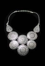 necklace trendy images Trendy statement silver bib necklace jpg