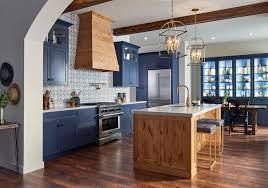houzz blue kitchen cabinets modern contemporary kitchen in blue and rustic alder
