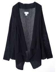 womens black cardigan sweater cozy chunky knit open drape front cardigan sweater annakastle com