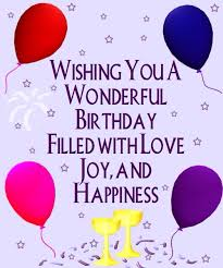 wishing you a wonderful birthday filled with and