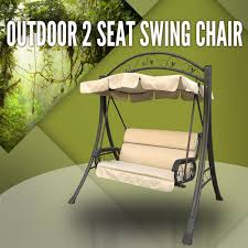 Childrens Swing Chair Outdoor Swing Chair Canopy Hanging Chair Garden Bench Seat Steel