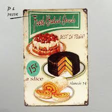 affiche cuisine vintage dl vintage métal affiche rétro shabby chic frais produits de