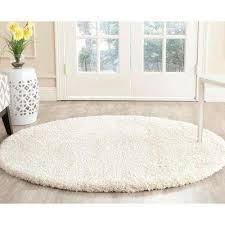 White Round Rugs Round Area Rugs Rugs The Home Depot