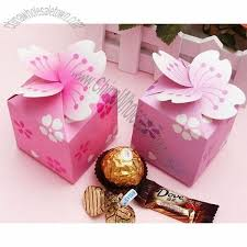 Gift Wrap Wholesale - pink and purple wedding candy boxes paper boxes cake shape gift