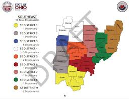 Ohio Map Counties by Will Vinton County Have A Medical Marijuana Dispensary