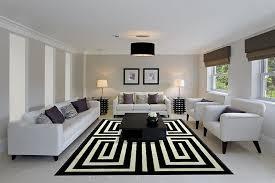 livingroom idea living room circular pattern gray white modern woven carpet