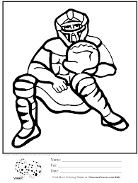 coloring pages for boys baseball catcher for classroom