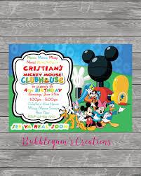 mickey mouse printable birthday invitations mickey mouse birthday invitation mickey mouse club house invite