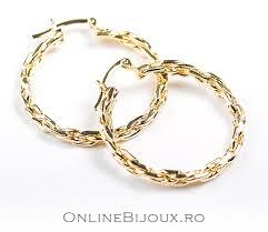 cercei de aur cercei model creole placati cu aur de 18 k 2microni productie