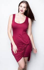 dress chloe marshall model curvy plus size red dress mini