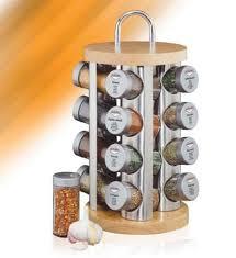 portaspezie in legno kuchenprofi portaspezie inox legno chiaro con 16 spezie