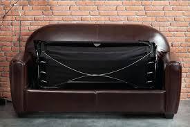 delamaison canap canape canape convertible cuir 2 places canape