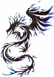 tribal tattoos with roses designs dragon with fire tattoo designs blue fire dragon tribal tattoo