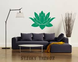 Lotus Flower Wall Decal Om by Lotus Wall Decal Lotus Decal Wall Decal Lotus Yoga Wall