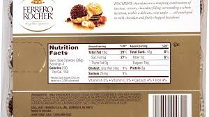 ferrero rocher allergy information