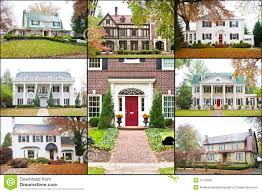 large american luxury homes collage stock image image 27750931