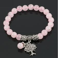 stone beaded bracelet images Natural crystal gem stone beads bracelet with tree of life jpg