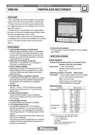 vm6100 paperless recorder ohkura electric pdf catalogue