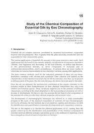 study of the chemical composition of essential oils by gas