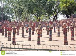 Nek Chand Rock Garden Chandigarh by The Rock Garden Chandigarh India Royalty Free Stock Photography