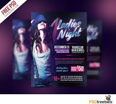 ladies night party flyer free psd template download download psd