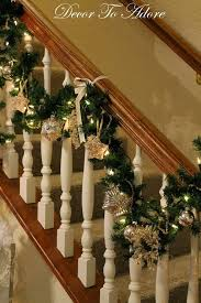 Banister Decorations For Christmas I Decorated My Very First Christmas Banister Decor To Adore