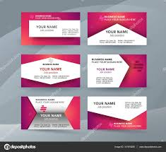 set template business card layout sided01 stock vector