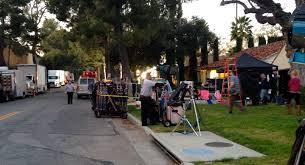 film crew in burbank ranch neighborhood ralph bashioum md