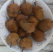 Decorative Fillers For Bowls Primitive Acorn Bowl Filler Primitive Fall Decor Autumn