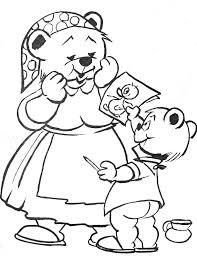 Coloriage maman et petit ours