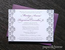 damask wedding invitations damask wedding invitations maritza and raymond paper and home