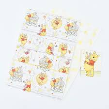 baby gift wrap winnie the pooh baby gift wrap tissue paper tags card factory