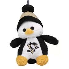 pittsburgh penguins nhl plush penguin ornament steel