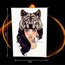 cougar makeup for halloween online get cheap tiger head tattoo aliexpress com alibaba group