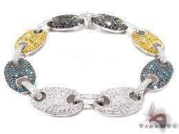 link bracelet with diamonds images Gucci link multi colored diamond bracelet 32608 jpg