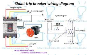 shunt trip breaker wiring diagram explanation electrical online 4u