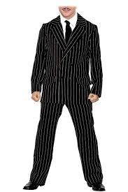 mens pinstripe gomez the spooky family halloween fancy dress