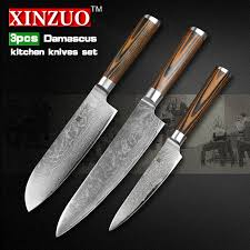 Knives For Kitchen Use Buy Pcs Kitchen Knives Set Layer Damascus Knife How You Use