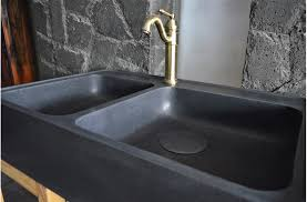 Mm Black Granite Double Bowl Kitchen Sink KARMA SHADOW - Black granite kitchen sinks