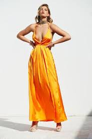 orange dress girl on maxi dress orange xenia boutique