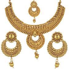 necklace set gold design images Buy jewels gold fancy simple antique golden designer necklace set jpg