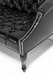 Patent Leather Sofa Www Roomservicestore Mademoiselle Sofa In Faux Black Croc