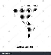 America Continent Map by America Continent Dotted Mapvector Stock Vector 308727674