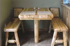 Simple Wooden Bench Decorations Excellent Brown Textured Wood Breakfast Nook Table