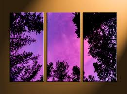triptych scenery purple sky large pictures home decor 3 piece canvas art prints leafy trees canvas print night canvas